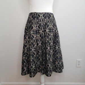 Mossimo Pleated Floral Career Skirt
